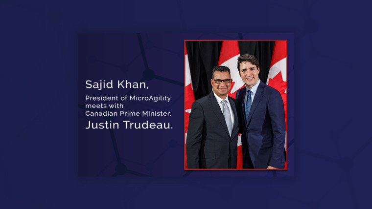 President of MicroAgility meets with Canadian Prime Minister